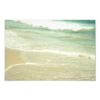 Fotografía en colores pastel de la playa del fotografías