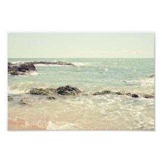 Fotografía en colores pastel de la playa del océan fotografías