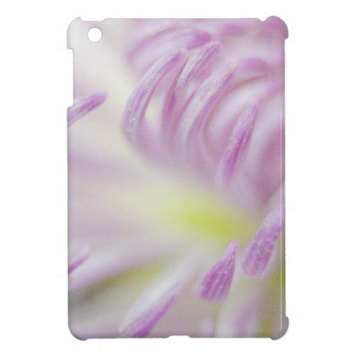 Fotografía en colores pastel rosada de la flor iPad mini protectores