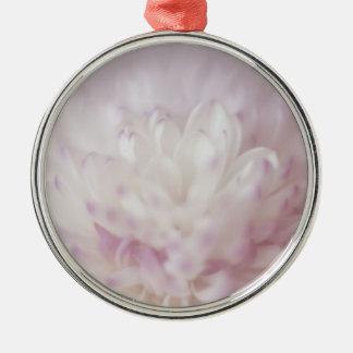 Fotografía en colores pastel suave de la flor ornamentos de navidad
