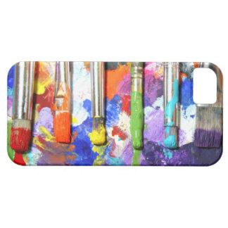 Fotografía en curso de la brocha de los arco iris iPhone 5 cárcasa
