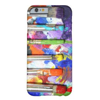 Fotografía en curso de la brocha de los arco iris funda de iPhone 6 slim