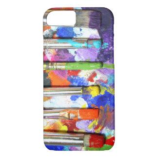 Fotografía en curso de la brocha de los arco iris funda iPhone 7