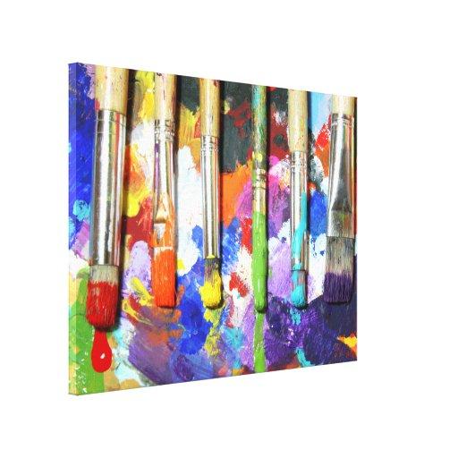 Fotografía en curso de la brocha de los arco iris impresiones en lienzo estiradas