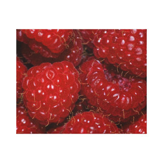 "Fotografía envuelta ""Rasberries "" de la lona Lona Estirada Galerias"