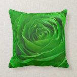Fotografía esmeralda abstracta del centro del rosa cojines