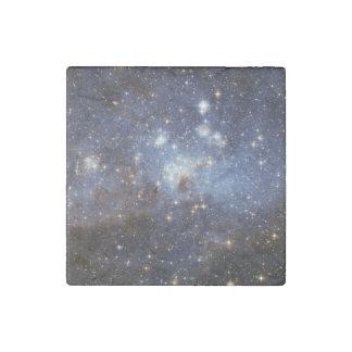 Fotografía estelar del espacio del cuarto de niños imán de piedra
