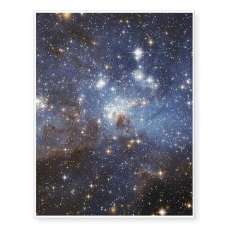 Fotografía estelar del espacio del cuarto de niños tatuajes temporales