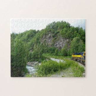 Fotografía expresa de las vacaciones del tren de puzzle