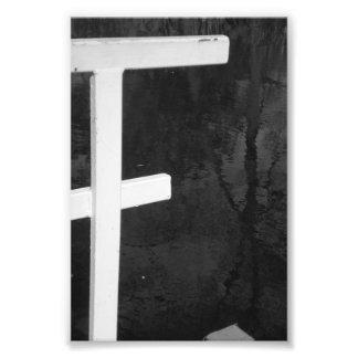 Fotografía F8 4x6 blanco y negro de la letra del a