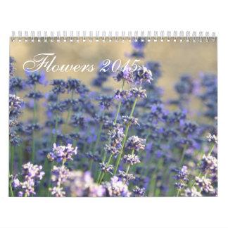 Fotografía floral 2015 calendario de pared