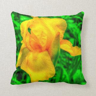 Fotografía floral de HDR del jardín del iris amari Almohada