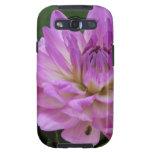 Fotografía floral de la dalia púrpura galaxy SIII carcasa