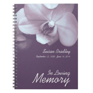 Fotografía floral de la orquídea 3 - libro de notebook