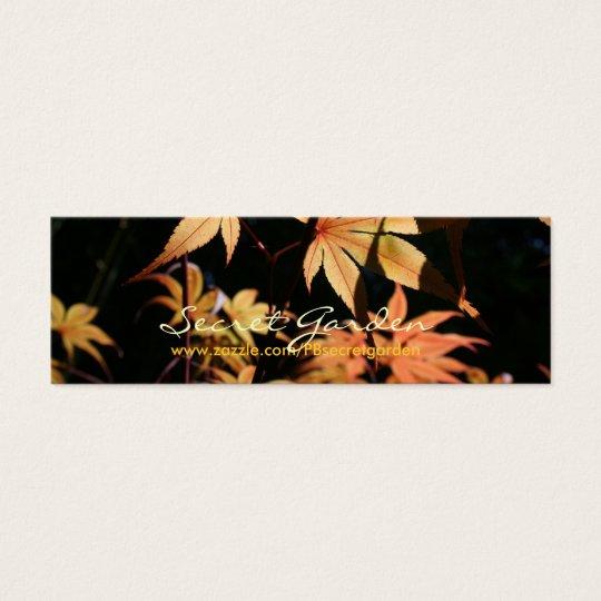 Fotografía floral de los arces japoneses 5 tarjeta de visita pequeña