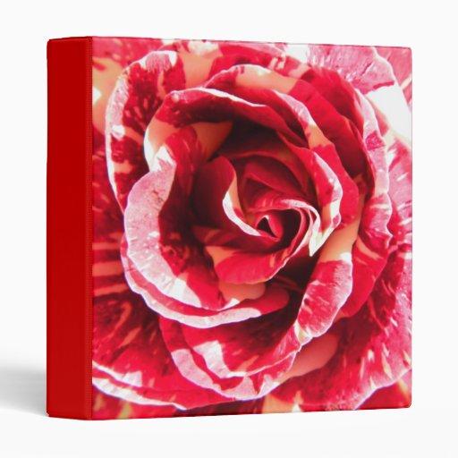 """Fotografía floral rayada roja y blanca color de carpeta 1"""""""