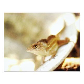 """Fotografía fresca del lagarto invitación 4.25"""" x 5.5"""""""