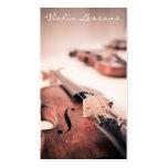 Fotografía fresca del violín/del violinista - plantillas de tarjetas personales