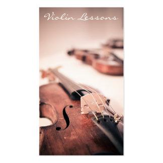 Fotografía fresca del violín/del violinista - tarjetas de visita
