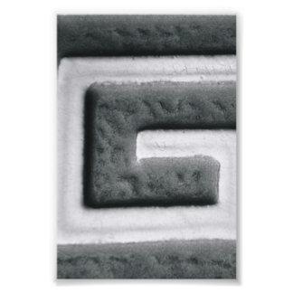 Fotografía G2 4x6 blanco y negro de la letra del Fotos