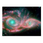 Fotografía hermosa del espacio de la nebulosa postales