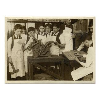 Fotografía histórica de la prensa de copiar del vi impresión fotográfica