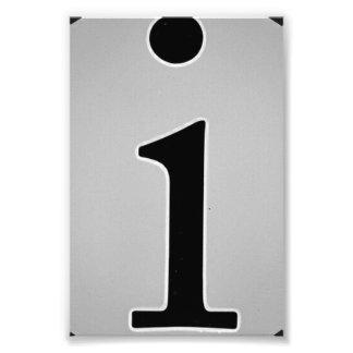 Fotografía I5 4x6 blanco y negro de la letra del Fotografías