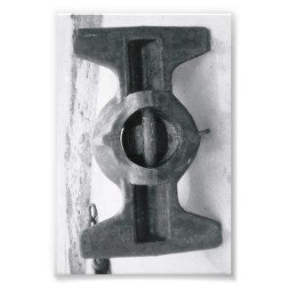 Fotografía I6 4x6 blanco y negro de la letra del Cojinete