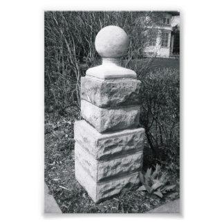 Fotografía I8 4x6 blanco y negro de la letra del a