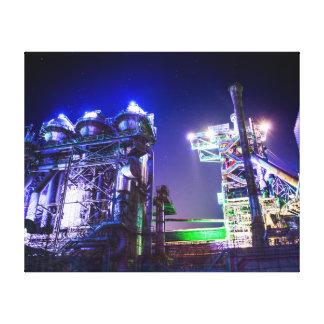 Fotografía industrial de HDR - planta siderúrgica  Impresiones En Lienzo Estiradas