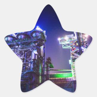 Fotografía industrial de HDR - planta siderúrgica Pegatina En Forma De Estrella