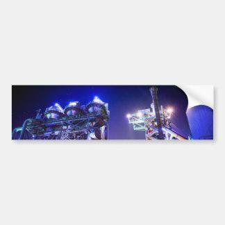 Fotografía industrial de HDR - planta siderúrgica  Pegatina Para Auto