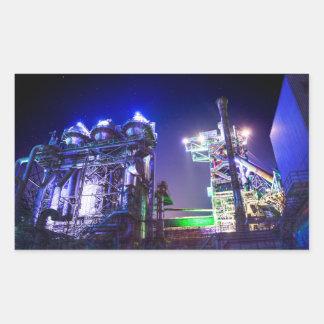 Fotografía industrial de HDR - planta siderúrgica Pegatina Rectangular