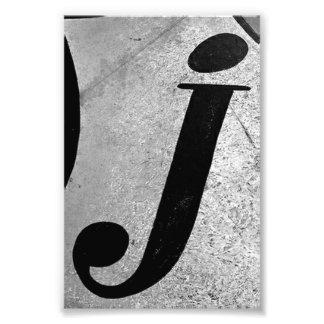 Fotografía J1 4x6 blanco y negro de la letra del a