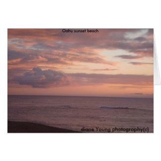 fotografía joven de diane (c), Oahu… Tarjeta De Felicitación