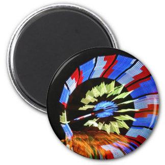 Fotografía justa colorida de la luz de neón del pa imán redondo 5 cm