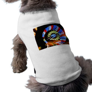 Fotografía justa colorida de la luz de neón del pa playera sin mangas para perro