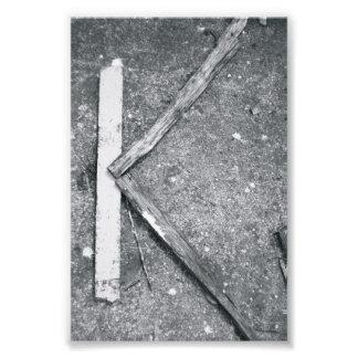 Fotografía K4 4x6 blanco y negro de la letra del Arte Fotografico