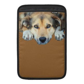 Fotografía linda del perro funda para macbook air