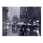 Fotografía: los años 40 NYC en la lluvia Postal
