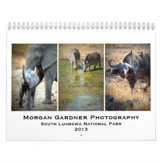 Fotografía Luangwa del sur 2013 de Morgan Gardner Calendarios