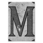 Fotografía M3 4x6 blanco y negro de la letra del a Arte Con Fotos