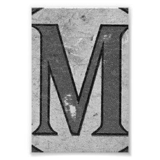Fotografía M3 4x6 blanco y negro de la letra del Fotografías
