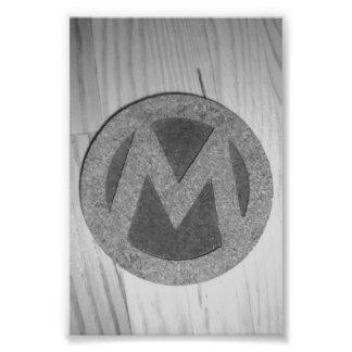 Fotografía M4 4x6 blanco y negro de la letra del a