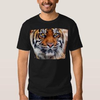 Fotografía masculina de la pintura del tigre playera