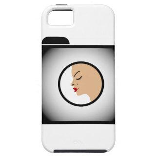 Fotografía modelo de la moda del lanzamiento de fo iPhone 5 carcasa