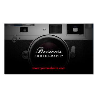 Fotografía moderna de la cámara clásica del tarjetas de visita