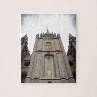 Fotografía mormona del templo de LDS Salt Lake Cit Puzzle Con Fotos