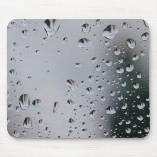 Fotografía MousePad de las gotitas de agua de lluv Alfombrilla De Ratón