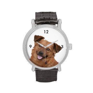 Fotografía mullida del perrito de Brown Relojes De Pulsera